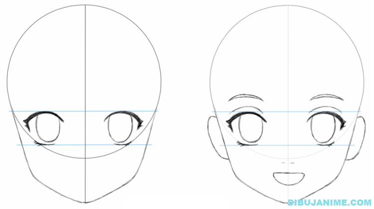 Como Dibujar Y Pintar Facil El Rostro De Una Mujer De: Anime Para Dibujar Facil