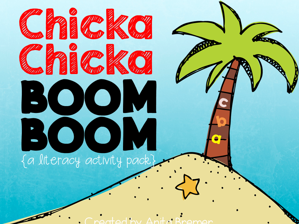 Chicka Chicka Boom Boom alphabet activities for Kindergarten literacy centers