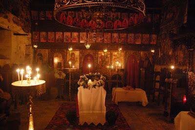 Αγρυπνία στο ναό της Γεννήσεως  του Χριστού εντός του Κάστρου της Σκιάθου.