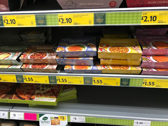 The Free From refrigerated shelves in Morrisons showing the Kirsty's Kids' Kitchen Ready Meals