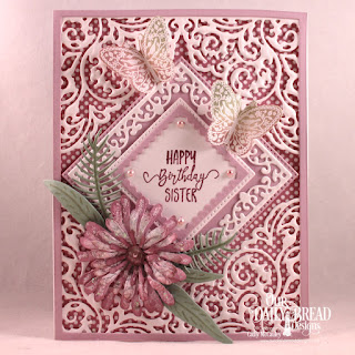 Our Daily Bread Designs Stamp Set: Sister In Christ, Stamp/Die Duos: The Greatest Gift, Paper Collection: Shabby Rose, Shabby Pastels, Custom Dies: Lacey Corners, Pierced Squares, Asters & Leaves, Ferns