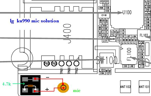 nokia 1203 mic jumper diagram