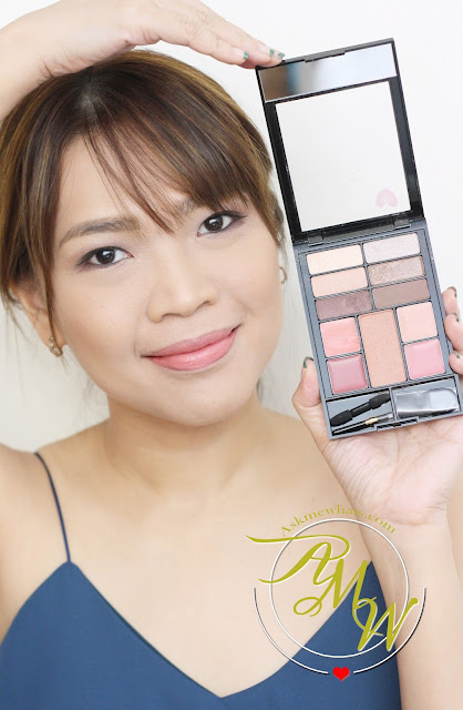 a photo of Nikki Tiu AskMeWhats wearing Revlon Eyes, Cheeks, Lips Palette in Romantic Nudes Review