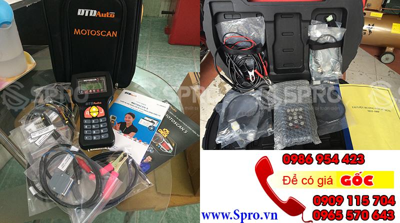Máy chuẩn đoán lỗi xe máy phun xăng điện tử Motoscan và MST100P