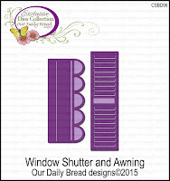 Our Daily Bread designs Custom Window Shutter and Awning Dies