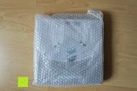 Luftpolster: KROLLMANN hochwertige Eck Badablage mit Glasboden und Reling
