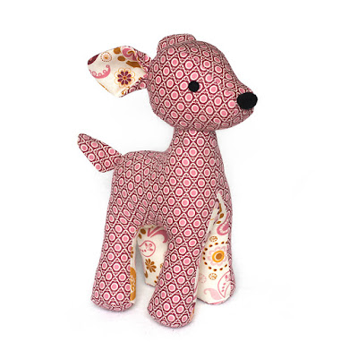 Deer toy sewing pattern