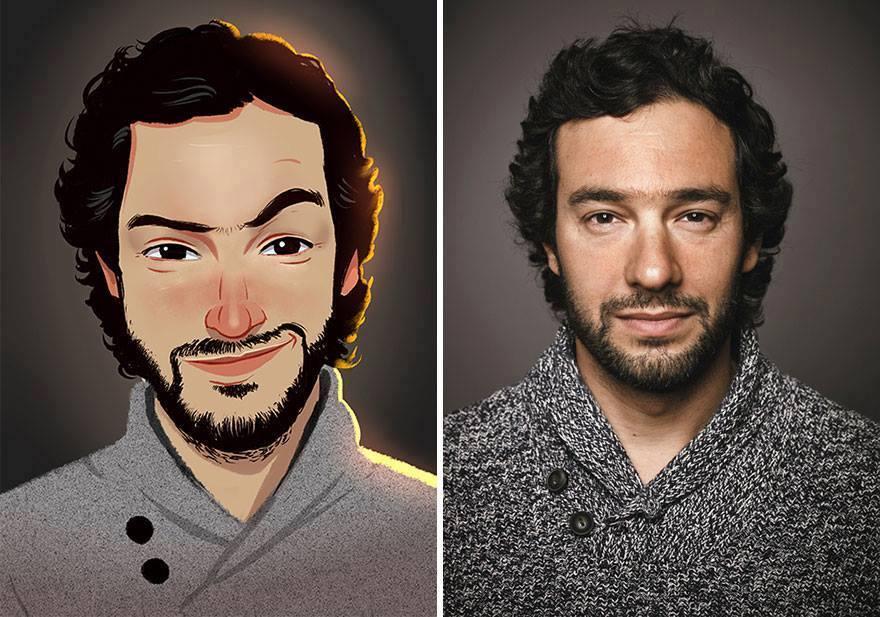 fotos transformadas em caricatura 06 - Pessoas transformadas em Caricaturas