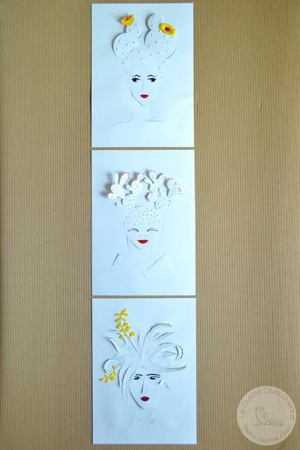 illustrazione in paper cutting realizzata a mano