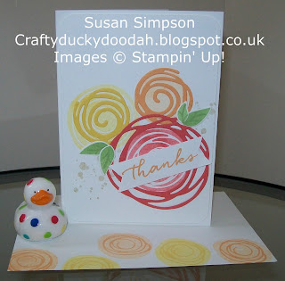Stampin' Up! Susan Simpson Independent Stampin' Up! Demonstrator, Craftyduckydoodah!,Swirly Bird,  Swirly Scribbles Thinlits,