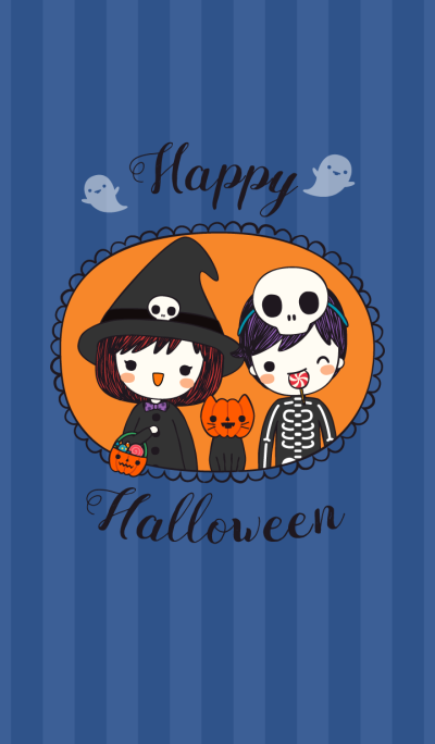 Happy halloween with cute couple 2