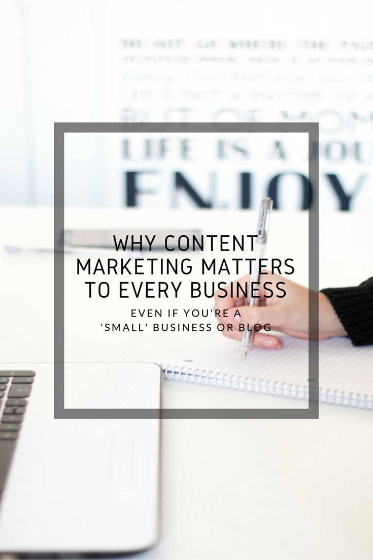 WHY CONTENT MARKETING MATTERS TO EVERY BUSINESS