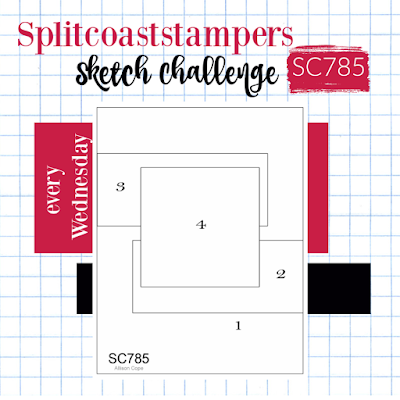 Splitcoaststampers card sketch 785