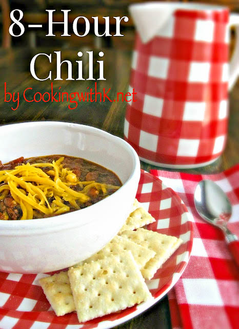 Crockpot Chili, slow cook chili with flavorful browned ground beef, beans, tomatoes, spicy seasonings, and a secret ingredient.  The perfect meal to make ahead during the week.  It has won 4 chili cook-offs.  Save any leftovers and serve it over chili dogs, Frito pies and chili cornbread!  The possibilities are endless!