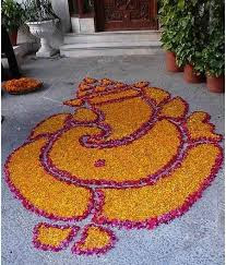 Ganesh Flower Rangoli