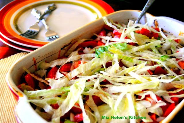 Stacked Enchilada Casserole at Miz Helen's Country Cottage