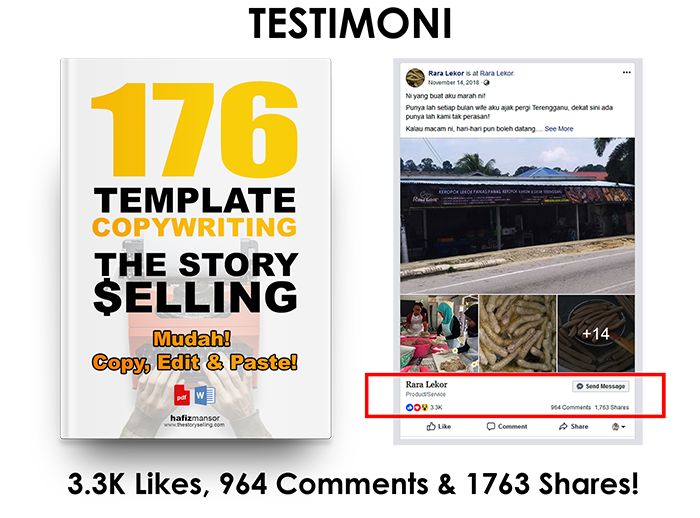 Tarik Pelanggan Dengan 176 Template Copywritting Story Telling Berhantu Ini