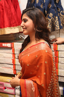 Actress Samantha Pictures in Saree at South India Shoping Mall Launch 0266