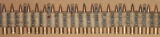 Матерчатая патронная лента (на пять патронов Д один патрон Т-46) к станковому пулемету «Максим» обр. 1910 года