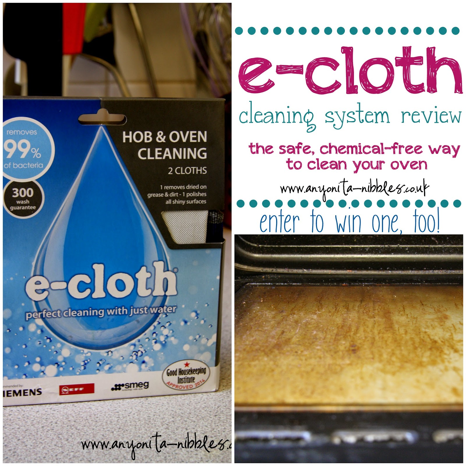e-cloth hob & oven review & giveaway from www.anyonita-nibbles.co.uk