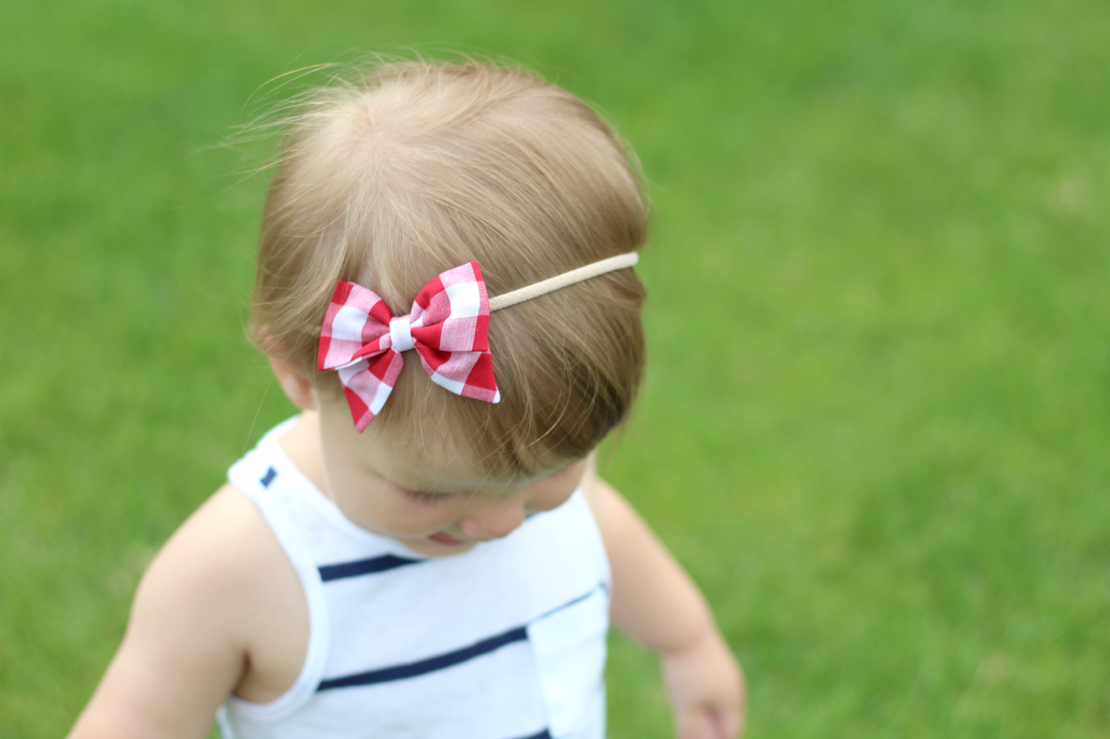 red gingham bow