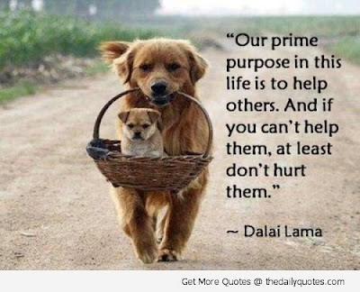 short inspirational quotes: our prime purpose in this life is to help others.