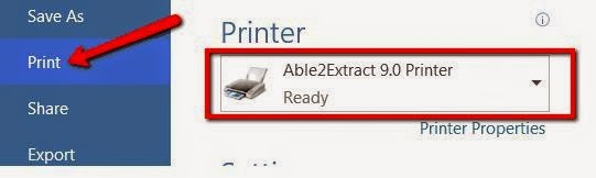 Create a PDF from any printable document