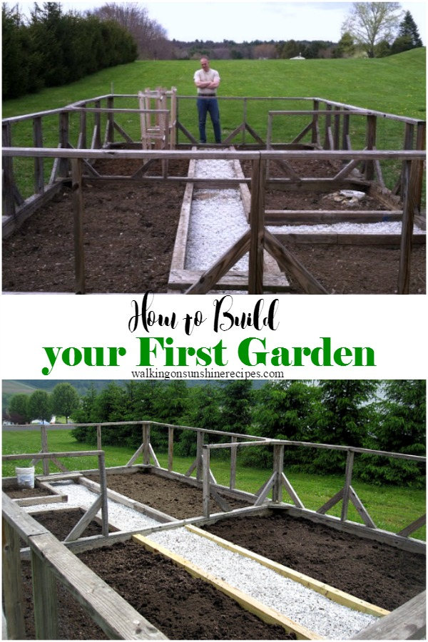 How to Build your first garden from Walking on Sunshine.