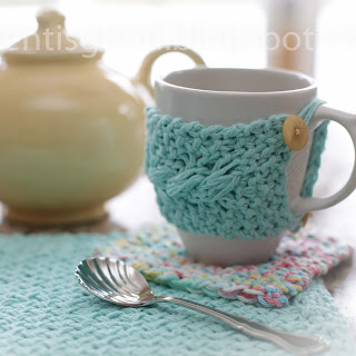 Loom Knit Coaster, placemat, mug cozy Patterns