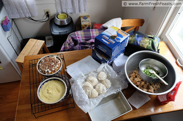 behind the scenes--making Thanksgiving dinner is a lot of work.