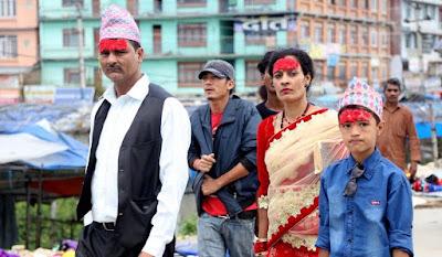 Teeka at Dashain festival Nepal