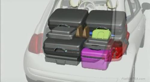 Fiat 500 Seats Folded