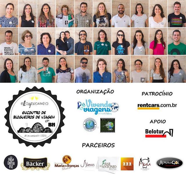 Participantes, patrocinadores e parceiros do Encontro de Blogueiros de Viagem em BH 2016