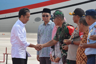 Presiden RI Tiba Di Lia Disambut Pangdam IX/Udayana Bersama Forkopimda Prov NTB