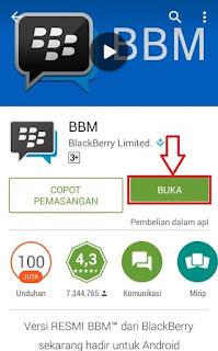 Buka Aplikasi BBM di Android