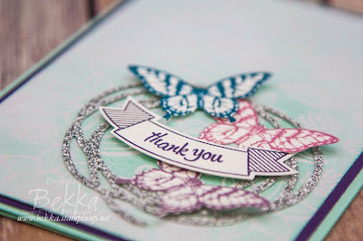 Papillon Potpouri Thank You Card made using Stampin' Up! UK Supplies which you can buy here