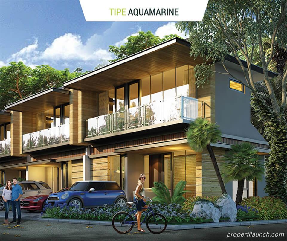 Rumah Golden Stone Serpong Cluster Agate Tipe Aquamarine