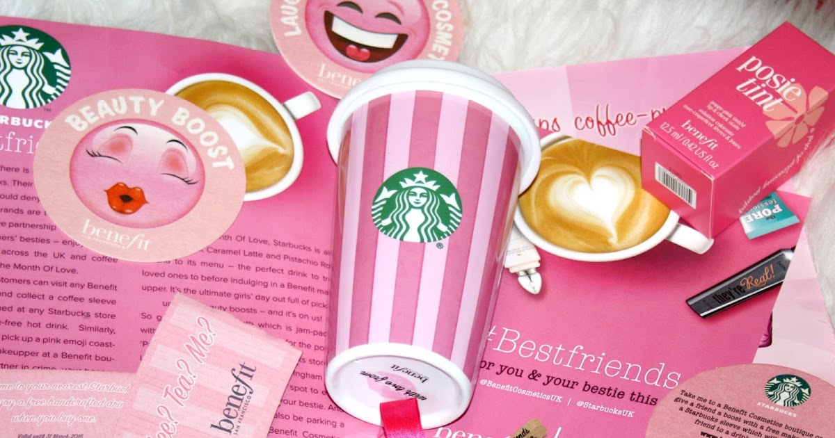 benefit and starbucks february collaboration plus freebie