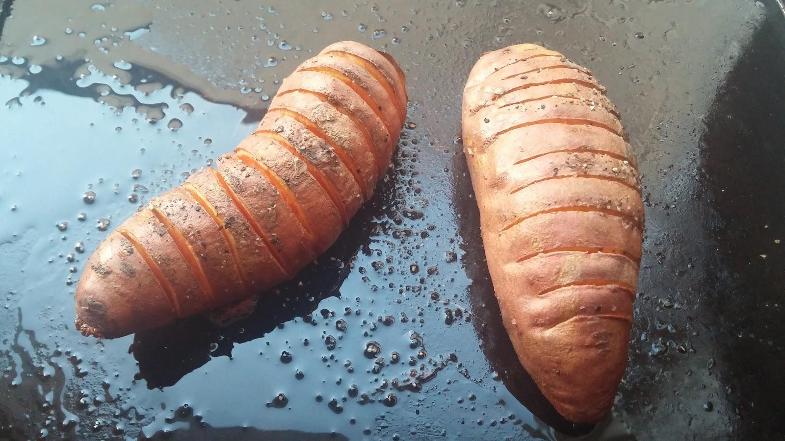 Hassleback Sweet Potatoes recipe