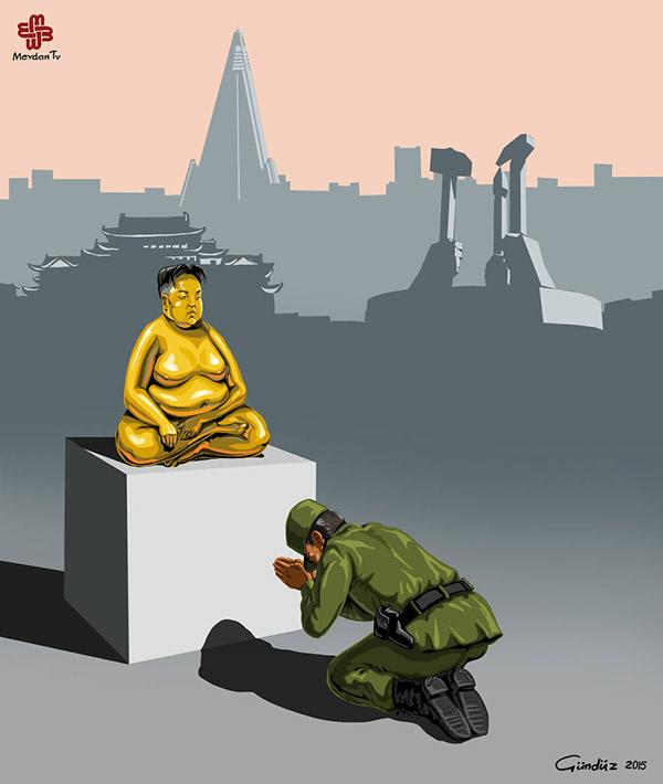 Gunduz Agayev (Azerbaijan) - Buddha political art