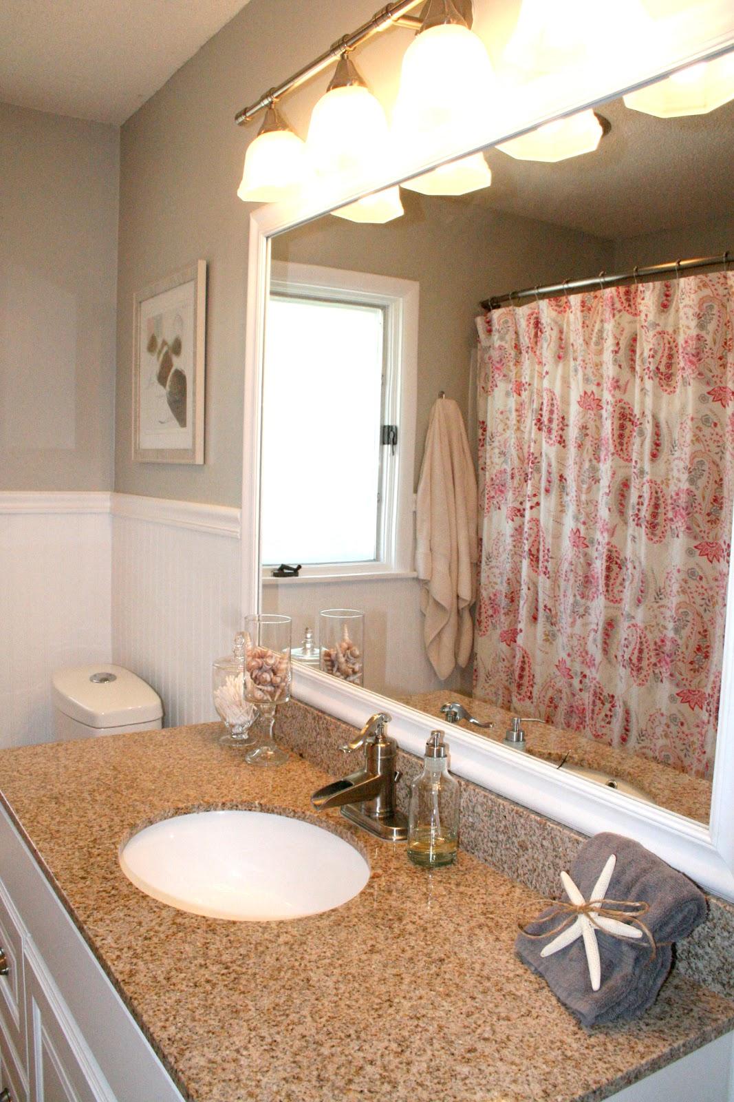 Remodelaholic | No More Pink Tile: Bathroom Remodel