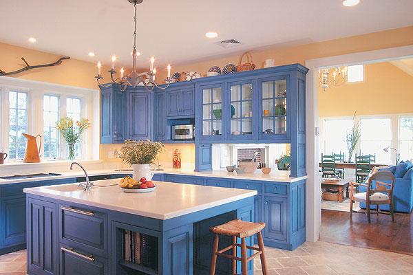 22 fotos de cozinhas para quem adora azul decora o e ideias for French blue kitchen ideas