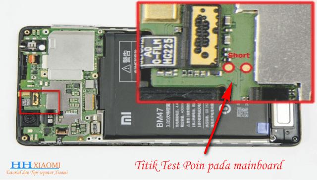Cara memperbaiki Hardbrick Xiaomi redmi 3S / 3X / 3S Prime dengan Test Point