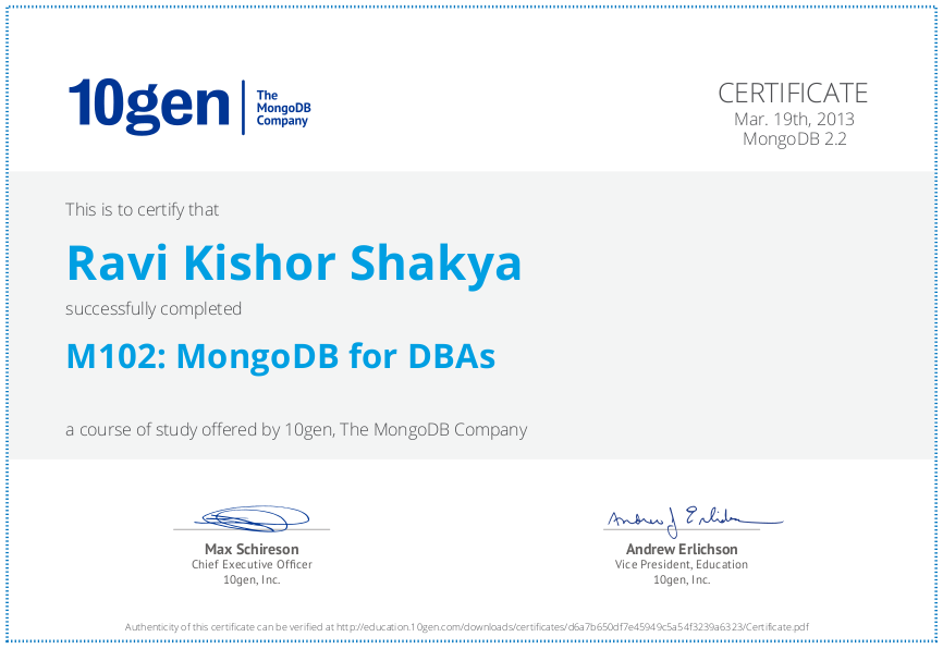 mongodb dba homework 4.1 answer