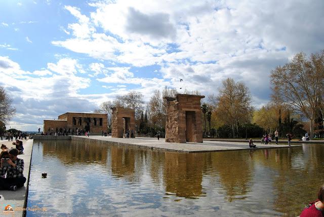 tempio di debod, parco dell'oeste, Madrid, cosa vedere a madrid, itinerario a madrid, due giorni a Madrid, blogger madrid