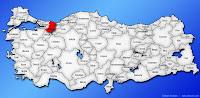Sakarya ilinin Türkiye haritasında gösterimi