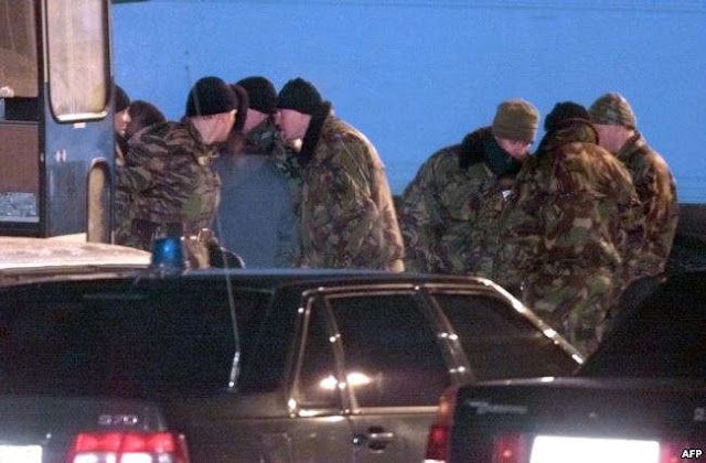 عناصر من مجموعة ألفا في القوات الخاصة الروسية في موسكو
