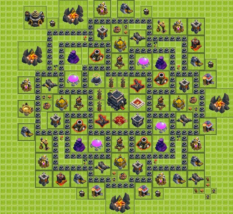 coc, th 9, clash of clans,
