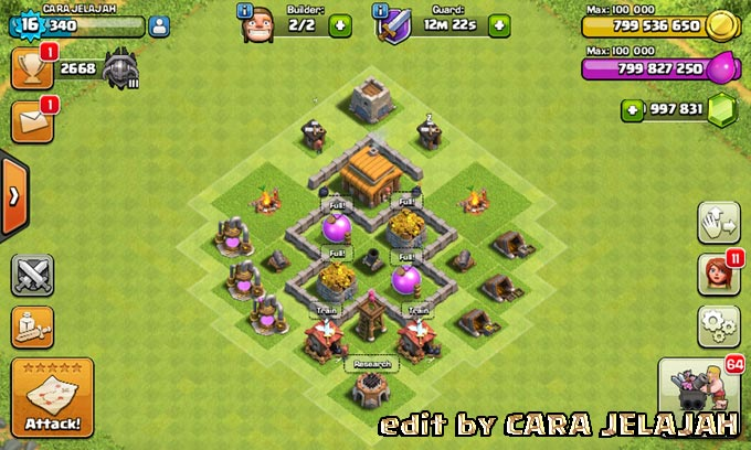 Desain Base Hybrid Clash Of Clans Town Hall 3 Update Terbaru 9
