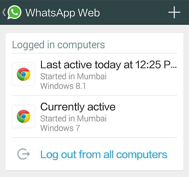 whatsapp web logout